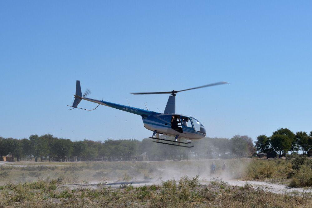 Flug über das Okavango-Delta