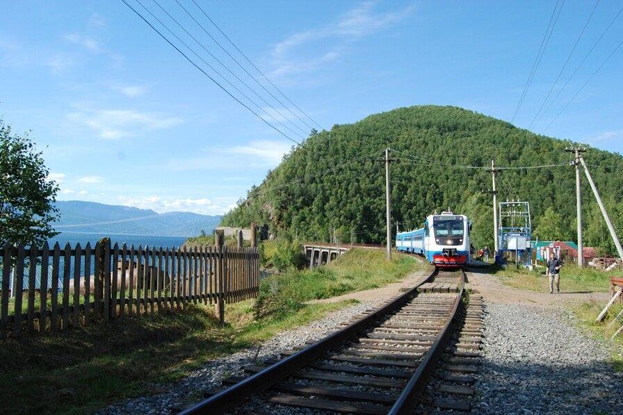 Alte Transsibstrecke entlang Baikalufer