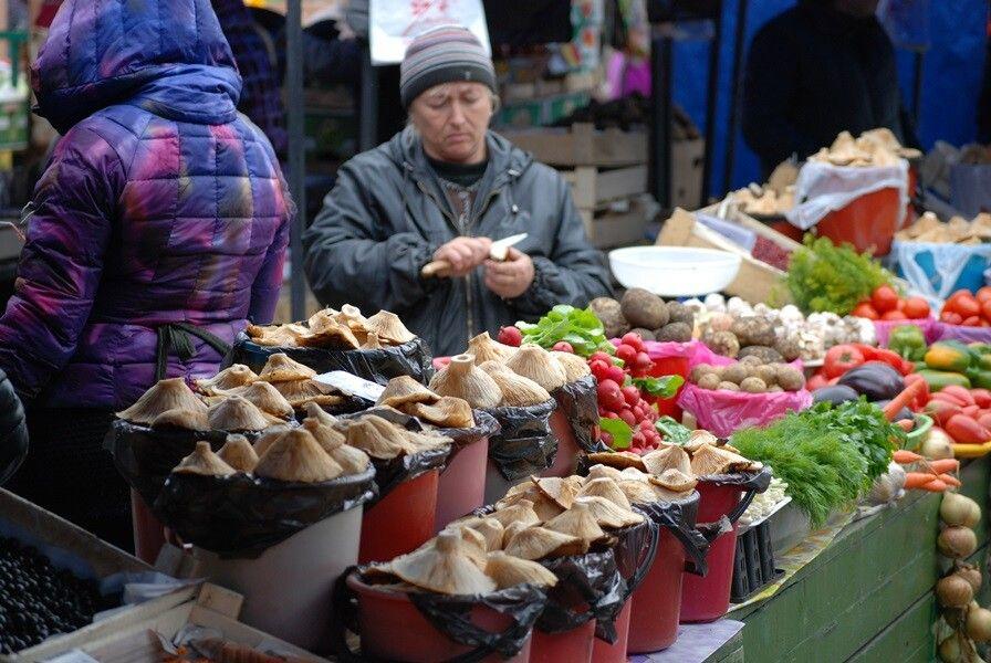 Verkauf gesammelter Pilze