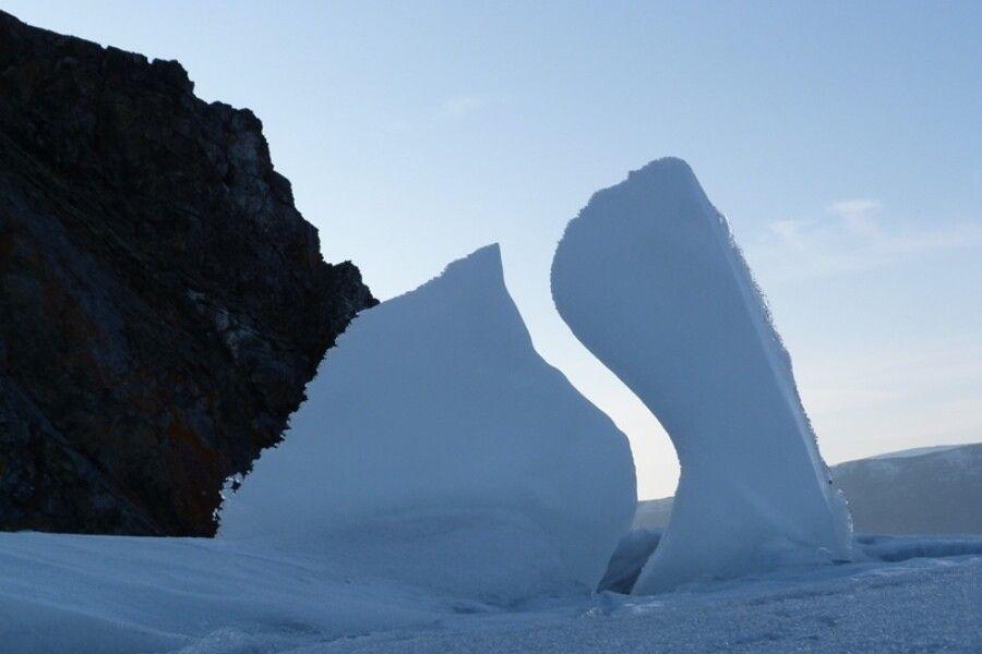 Verrückte Eisformation