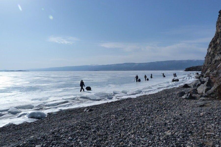 Trekking auf dem Eis