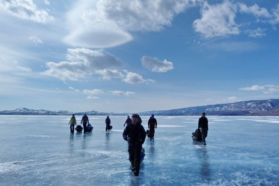Marsch übers Eis