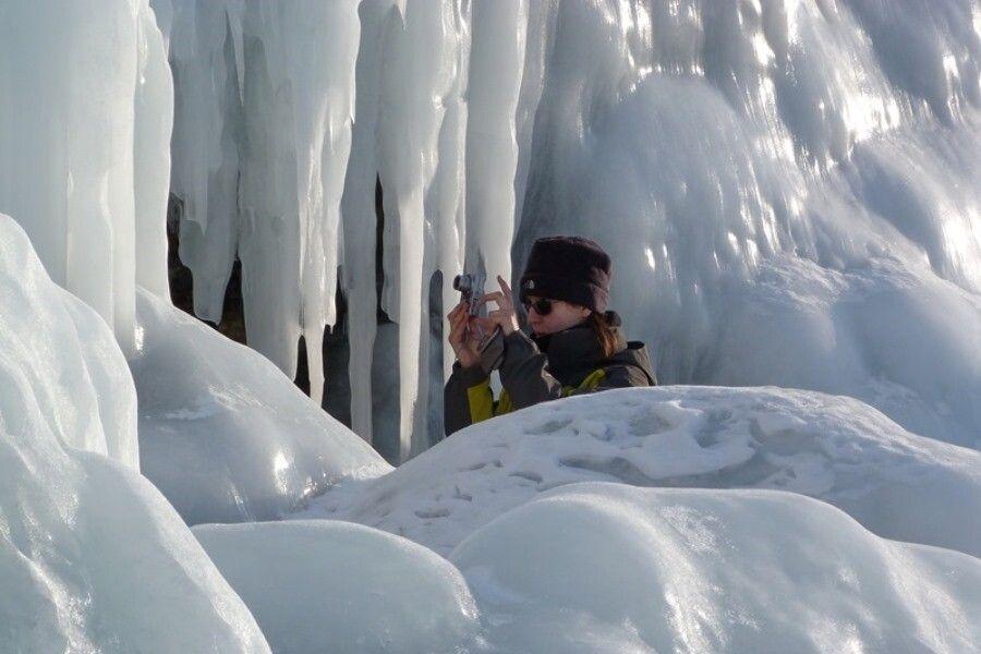 Versteck im Eispanzer