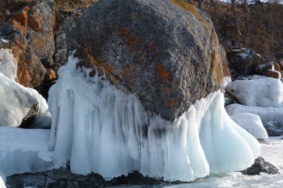 Stein und Eis