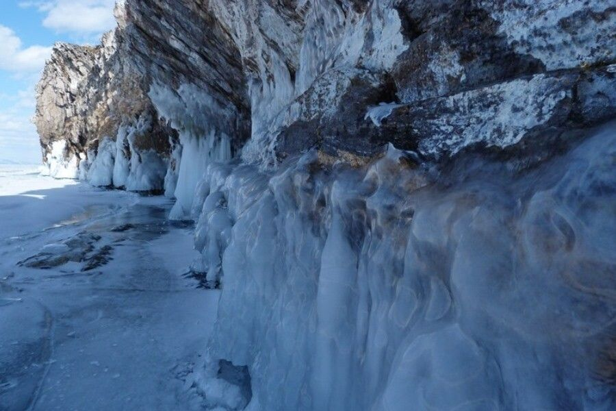 Eiswände am Kap Choboi