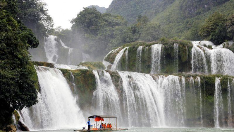 In der Nähe von Cao Bang befindet sich der Ban-Gioc-Wasserfall, einer der schönsten Vietnams © Diamir