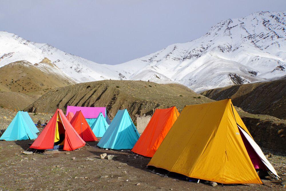 Zeltlager oberhalb von Rumbak auf 4200 m