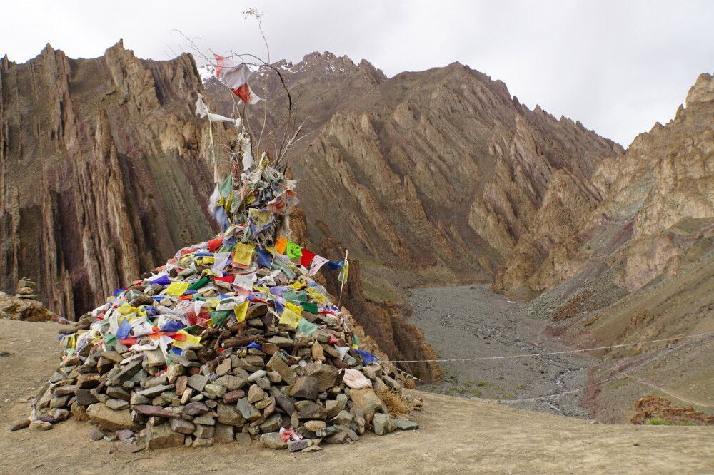 Abstieg vom Basislager Stok Kangri über Namlung (4025m) nach Stok
