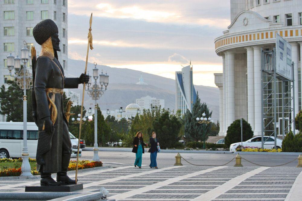 Stadbild von Ashgabat