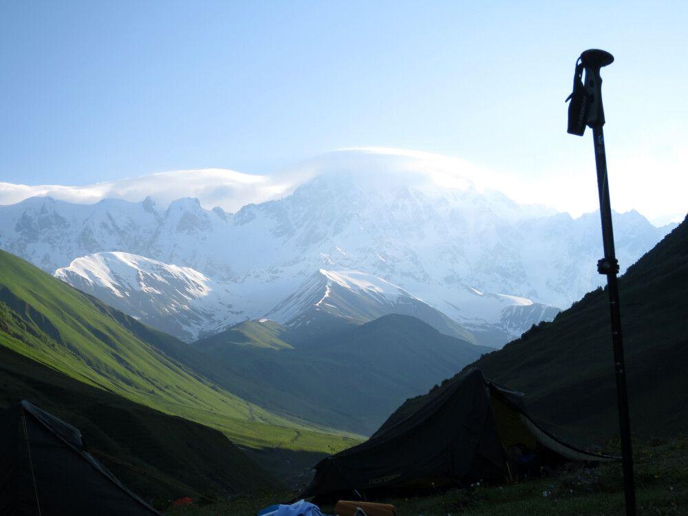 Blick auf die ganz hohen Gipfel