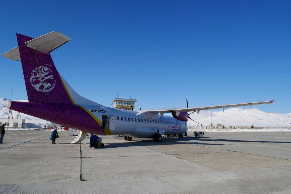 Flugplatz in Bajan-Ölgii