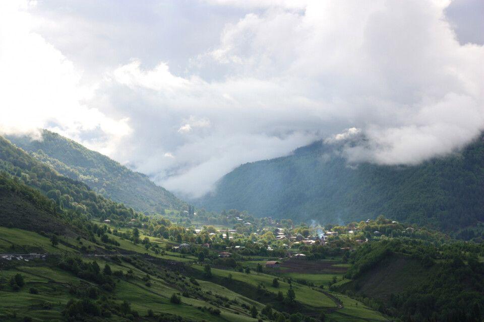Swanetien in Wolken