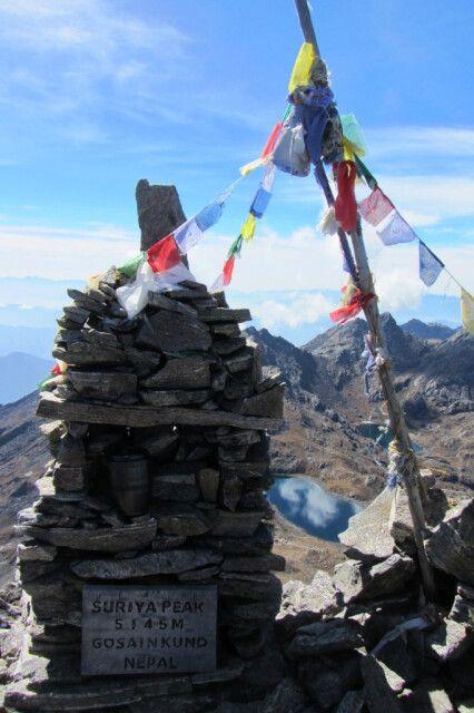 Der Höhepunkt der Reise - Surya Peak
