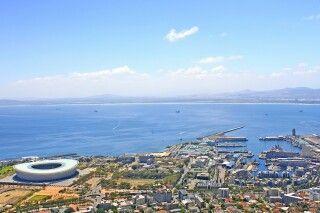 Blick auf das Stadion von Oben, Kapstadt