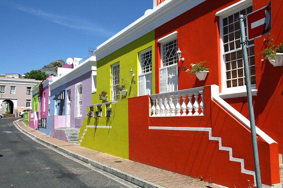 Häuser im-Bo-Kaap in Kapstadt