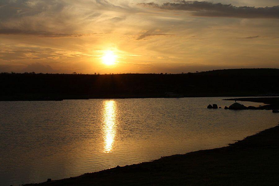 Sonnenuntergang im Krüger-Nationalpark