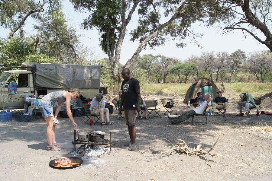 Unser Camp im Moremi-Wildreservat