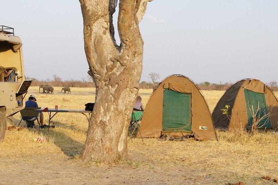 Unser Camp im Savuti