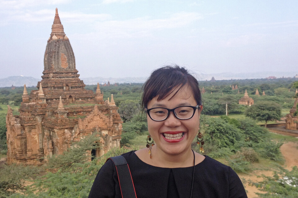 Huong Giang Nguyen unterwegs in Bagan in Myanmar