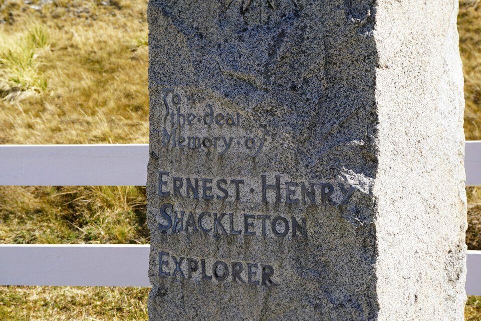 Das Grab von Sir Ernest Shackleton