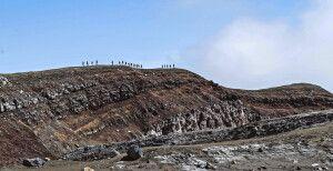 Gruppe am Kraterrand des Goreli