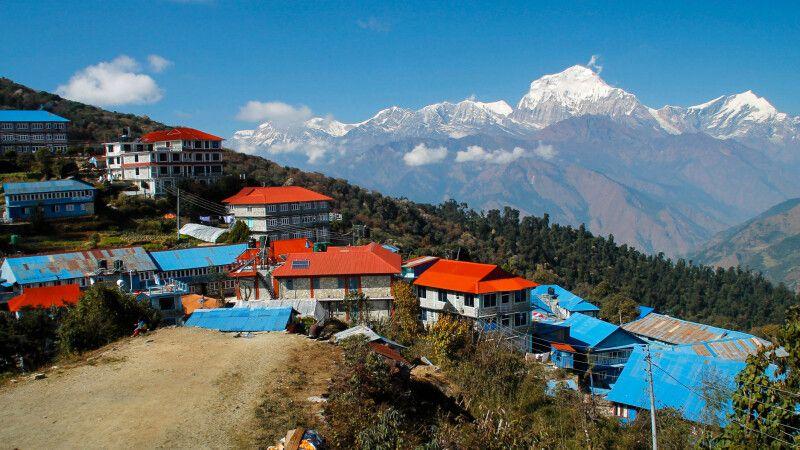 Dhaulagiri-Bergkulisse von Ghorepani © Diamir