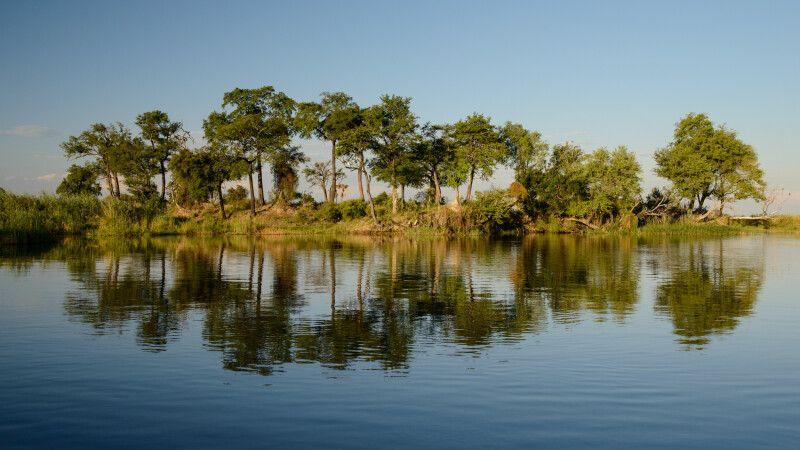 Auf Fotosafari per Boot in der Wasserwelt des Kwando-Flusses © Diamir