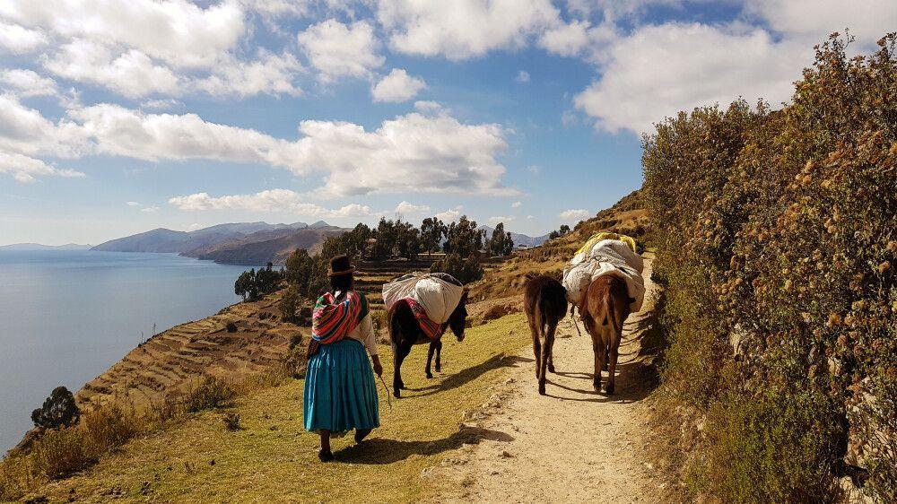 Unterwegs auf der Sonneninsel im Titicacasee