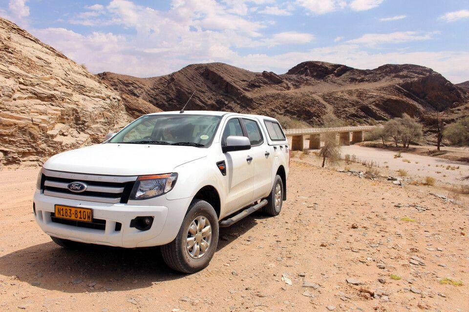 Mietwagen in der Namib-Wüste