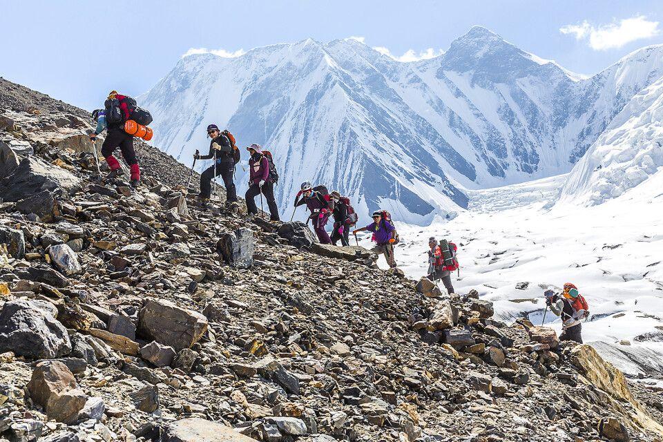 Aufstieg in 4360m Höhe