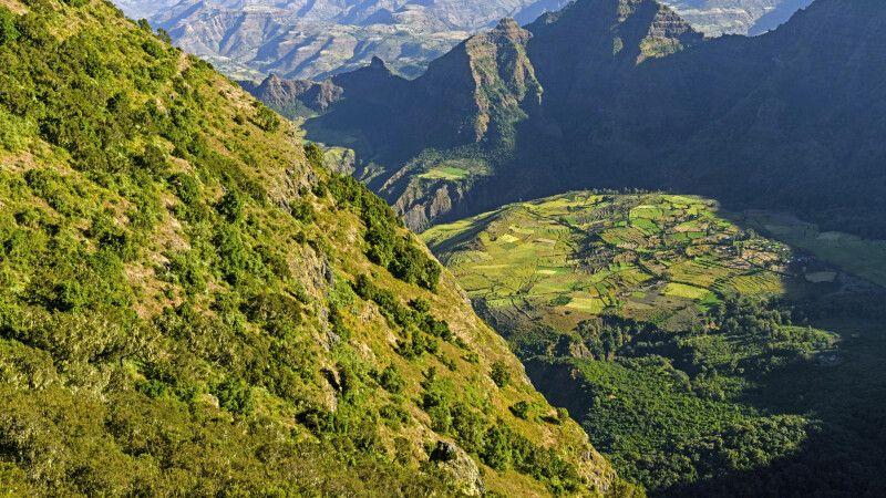 Gebirgslandschaft in den Semien-Bergen © Diamir