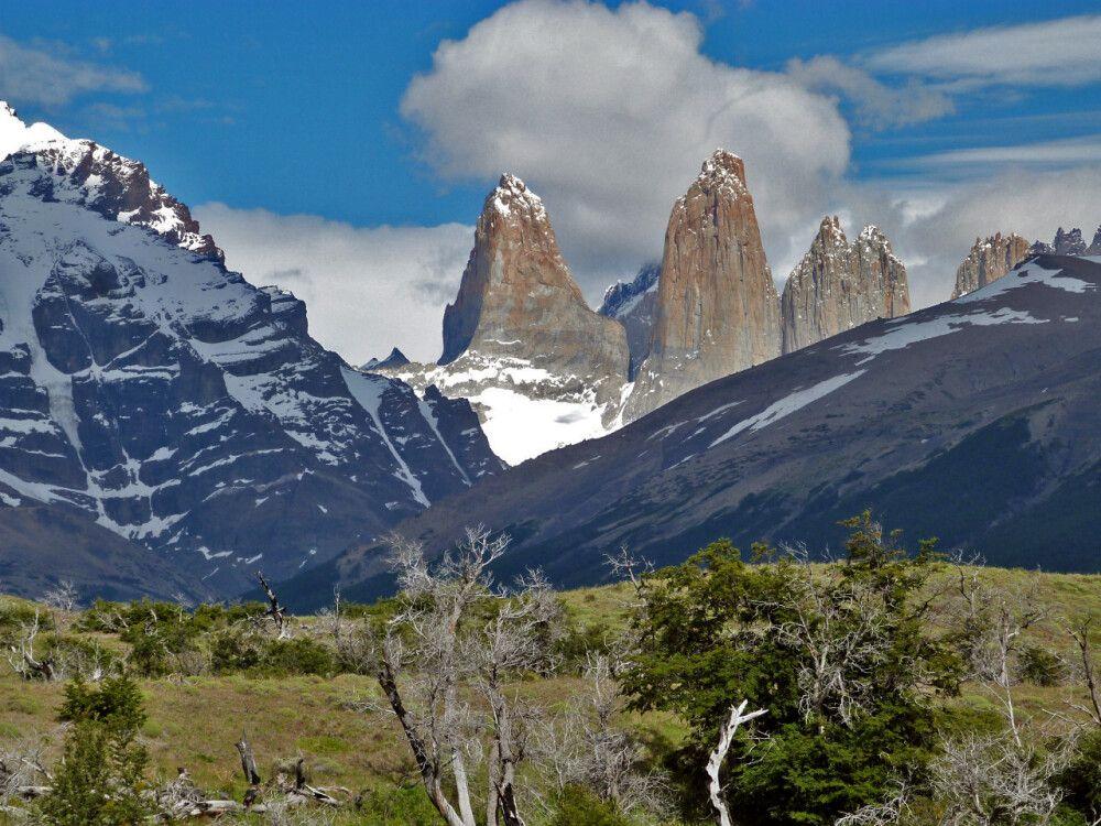 Panorama des NP Torres del Paine – wir hatten Wetterglück