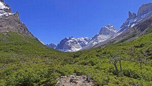 Blick in das Französische Tal im Nationalpark Torres del Paine