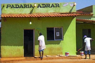 Straßenszenen in Angola