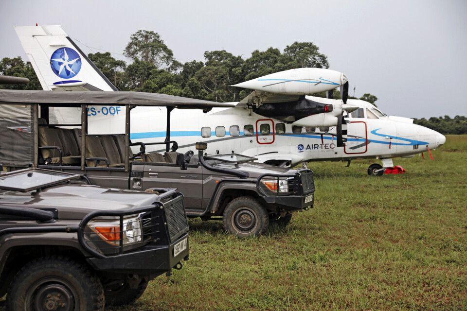 Mboko Airstrip im Odzala-Kokoua-Nationalpark