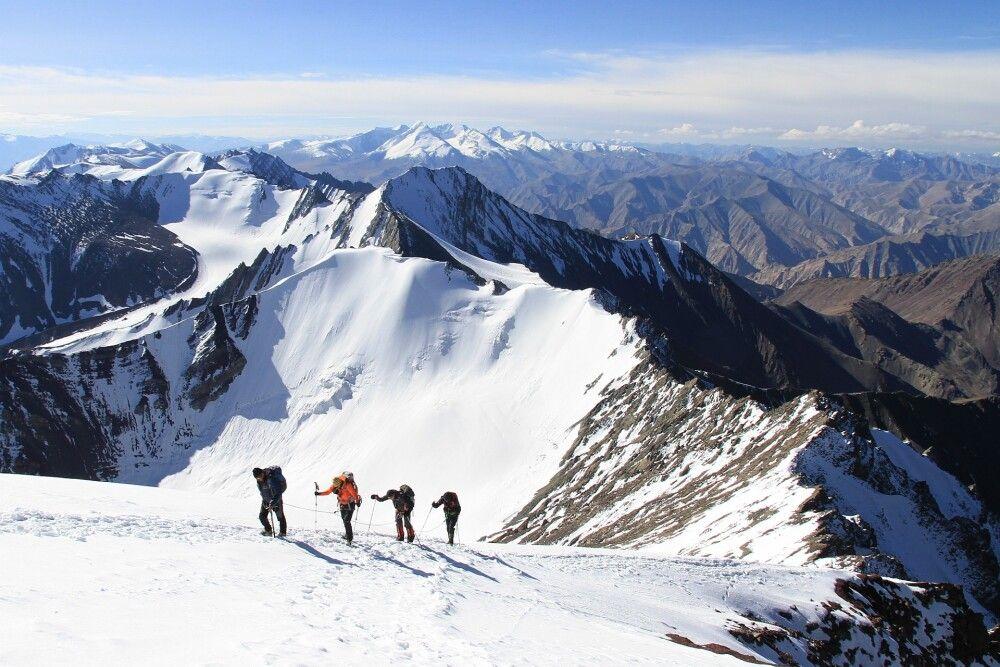 Die letzten Meter zum Gipfel des Stok Kangri sind nur noch purer Genuss.