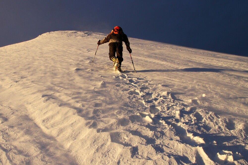 Unterwegs zum ersten Gipfelziel, dem Kang Yatze II (6190m).