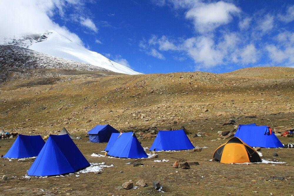 Unser Zeltlager im Kang-Yatze-Basecamp