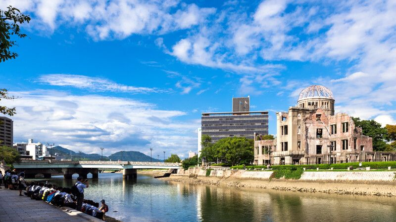 Atombomben-Kuppel in Hiroshima  © Diamir