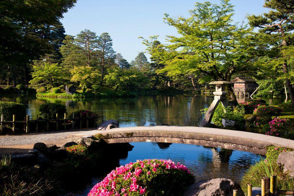 Landschaftsgarten Kenrokuen in Kanazawa