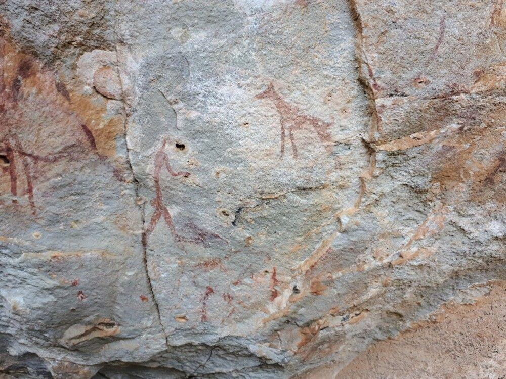 Felszeichnungen in den Drakensbergen