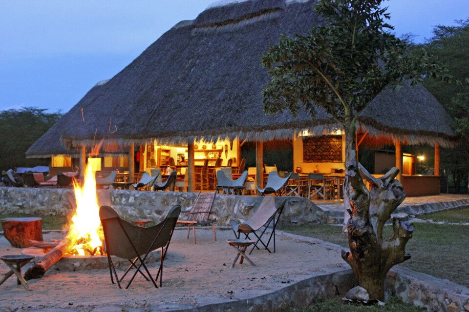 Boma an der Enjojo Lodge