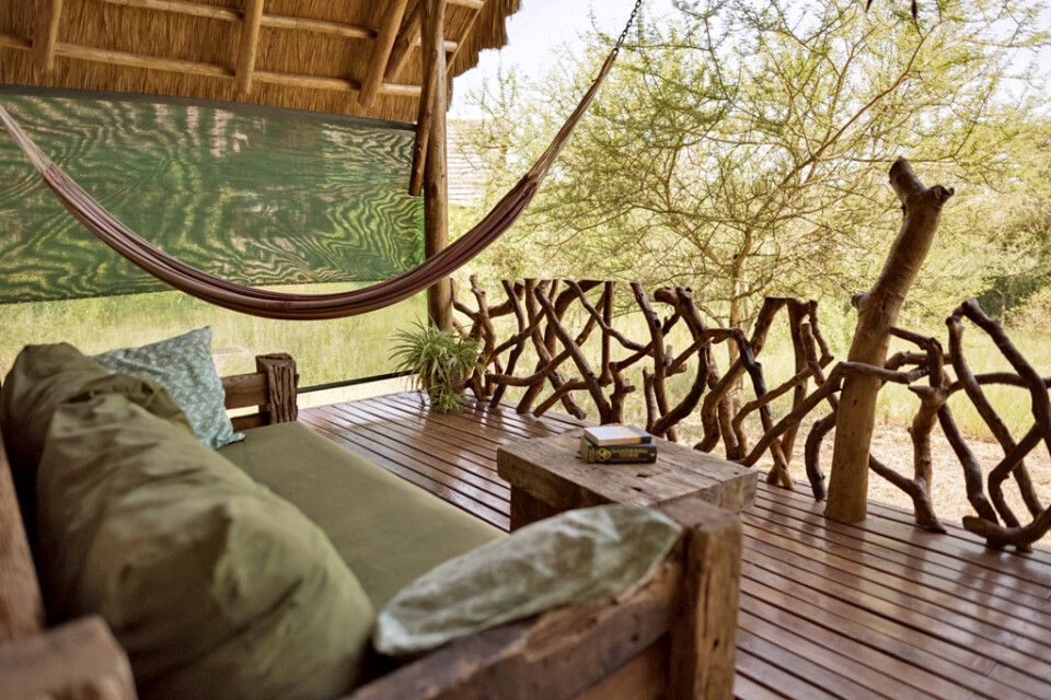 Veranda vom Cottage der Murchison River Lodge
