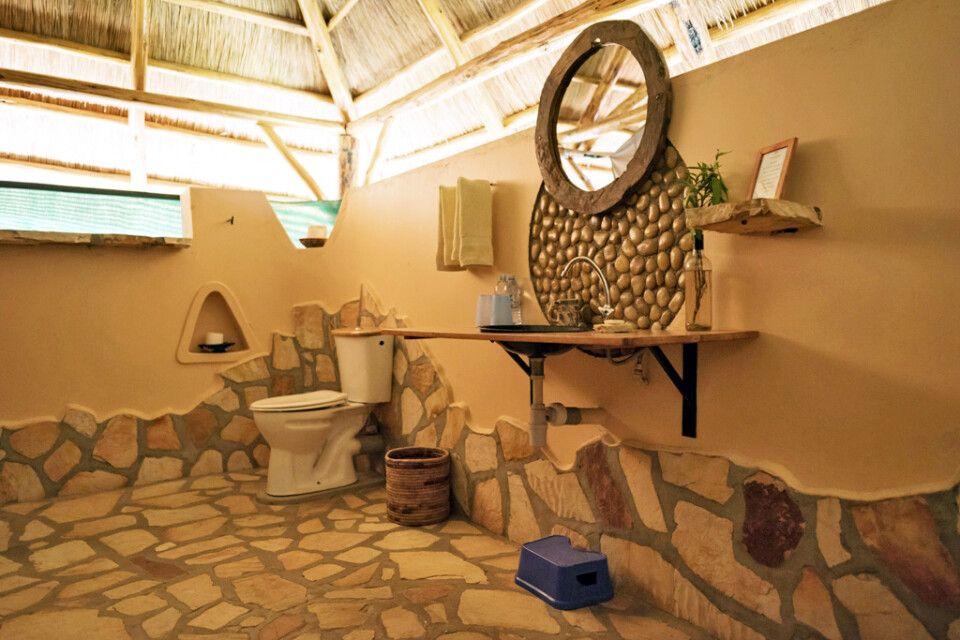 Badezimmer im Safari Zelt in der Murchison River Lodge