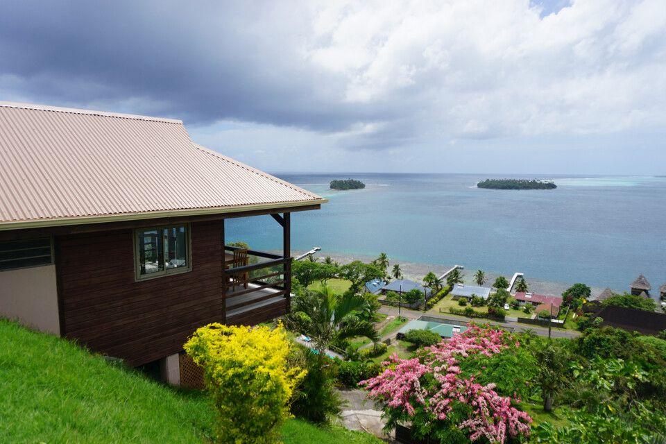 Blick von der Villa Tonoi, Raiatea