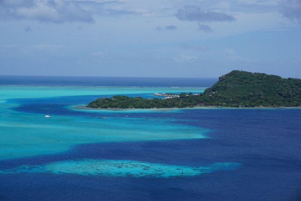 Die Lagune von Bora Bora
