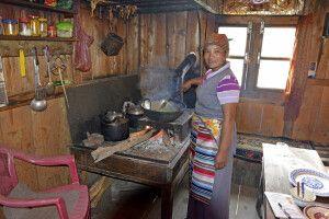 Mittagszeit in einer Lodge nahe Ningsow