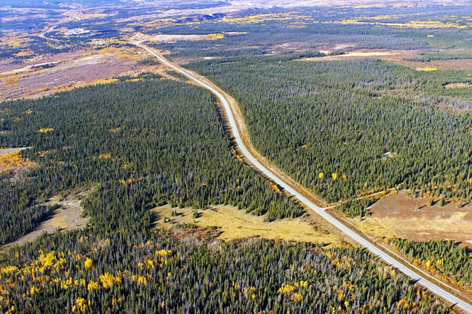Kluane Nationalpark, Alaska Highway
