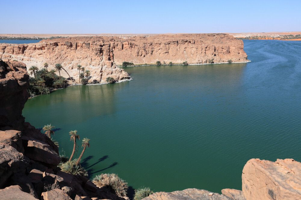 Der salzhaltige Lac Yoa nahe Ounianga Kébir ist gigantisch