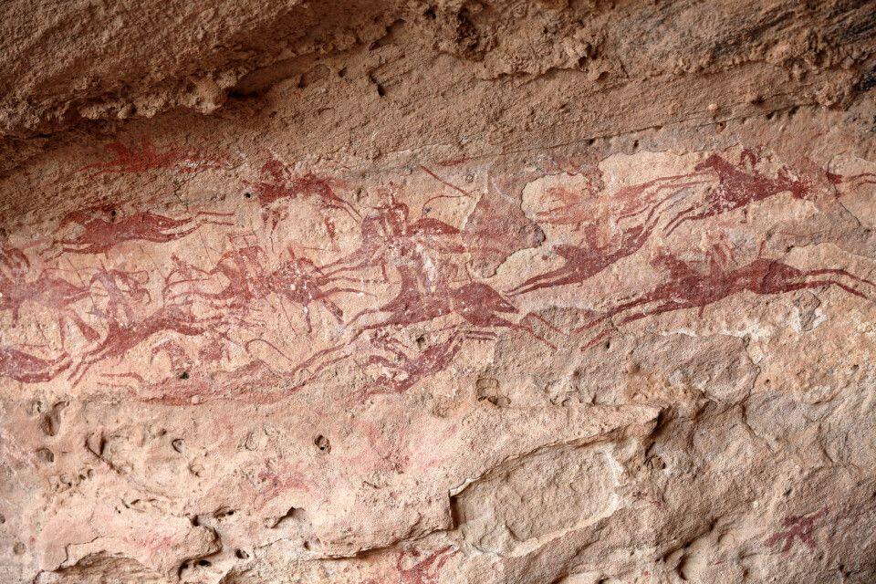 """Die Felszeichnungen von Tereké Est sind Zeugen einer """"grünen Sahara"""""""